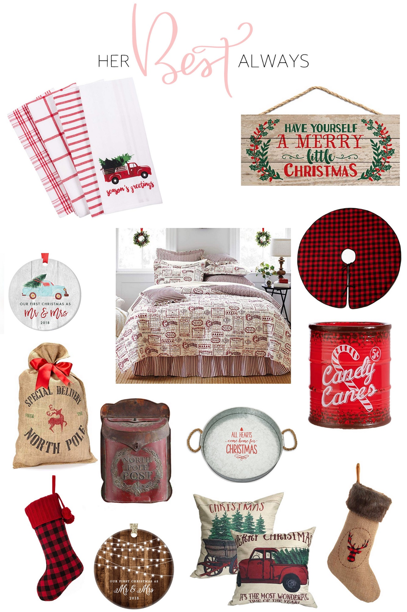 Vintage, rustic, Christmas decor, gift guide, blogger