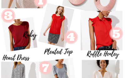 Valentine's Day, work wear, blogger, gift guide, loft